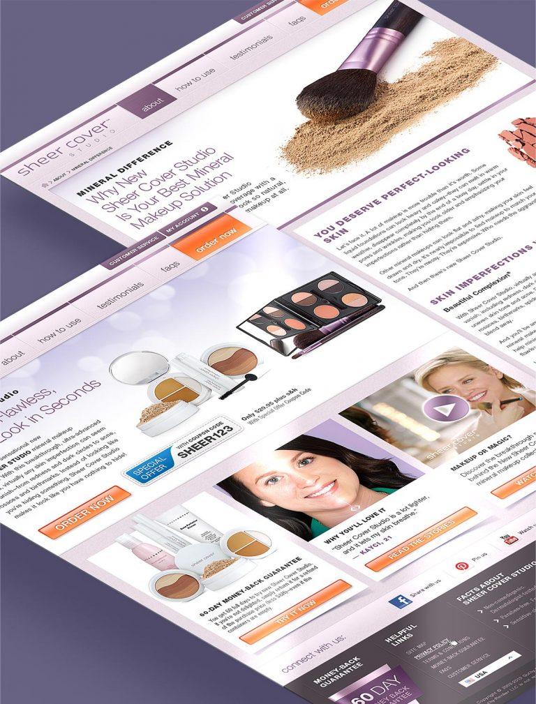 Sitio Web Sheer Cover